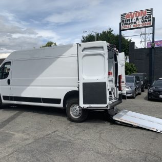 Avon Rents NEW VEHICLE AVAILABLE – Ram 2500 Promaster w/ Liftgate